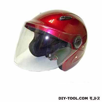 セミジェットヘルメットフリー キャンディレッド  KSJ-323