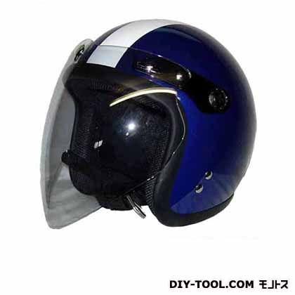 シールド付スモールジェットヘルメット アイボリー/ネイビーフリー  SJ-67S