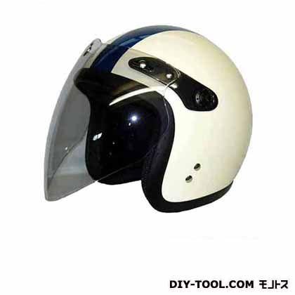 バブルシールド付スモールジェットヘルメットフリー アイボリー/チェッカー  SJ-68B