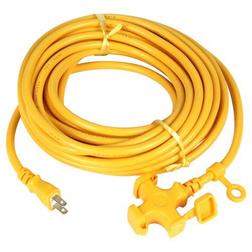 ソフトタイプ延長コード 黄色 10m KM02-10 キイロ