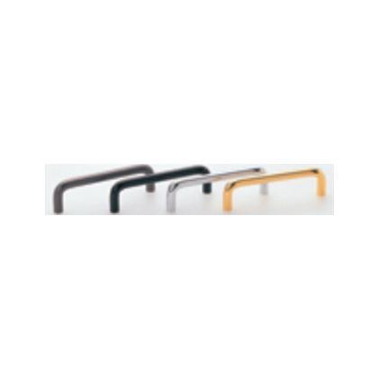 真鍮丸棒ハンドル座ナシ 黒ツヤ消 110mm 14603
