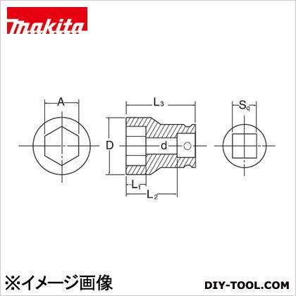 マキタ/makita インパクト用六角ソケット17-38(ピン・Oリング付)17mm角ドライブ12.7mm 17-38mm A-43212