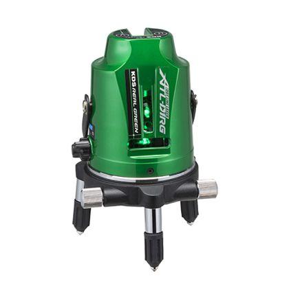 ドット付リアルレーザー受光器・三脚付 グリーン 112×112×188mm ATL-D1RGRSA