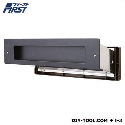 No.3000ポスト内フタ付気密型大壁用 黒 壁厚調整範囲:135~190mm 投入口:H50×W300mm 001-5917 1 台