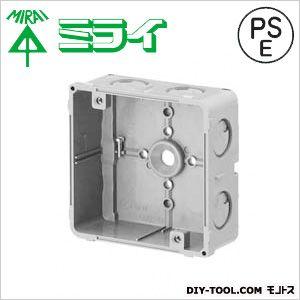 未来工業 埋込四角アウトレットボックス(スタット無) グレー CDO-4AZ