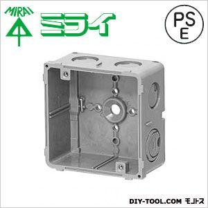 未来工業 埋込四角アウトレットボックス(スタット無) グレー CDO-4BZ