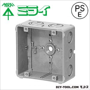 未来工業 埋込四角アウトレットボックス(スタット無) グレー CDO-5BZ