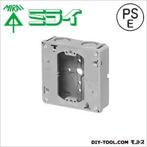 埋込四角アウトレットボックス(極薄型・平塗代カバー付) グレー  CDO-4ASS12