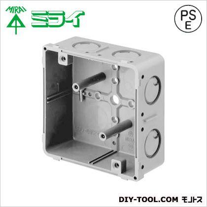 未来工業 埋込四角アウトレットボックス(釘付) グレー CDO-4AK2