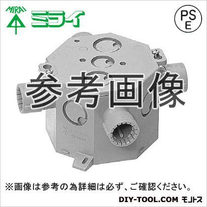 CD・PFハブ付八角コンクリートボックスPF管用 グレー  MFS8-75HG