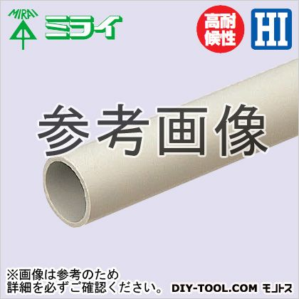 【送料無料】未来工業 硬質ビニル電線管(J管) グレー VE-100