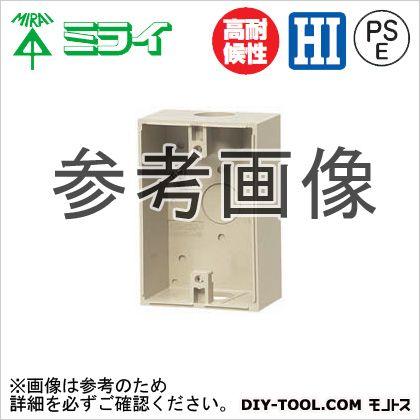 露出スイッチボックス(防水コンセント用) ベージュ  PVR22-BC1AJ