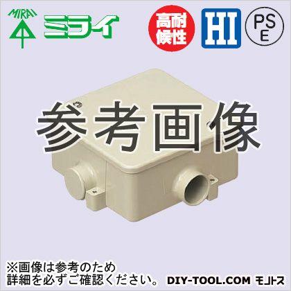 未来工業 アウトレットボックス(蓋付) ベージュ PVK-22J