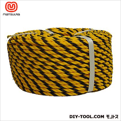 標識ロープ(HM) トラ柄 #9-100(約8mm×100m) #9-100 1 巻