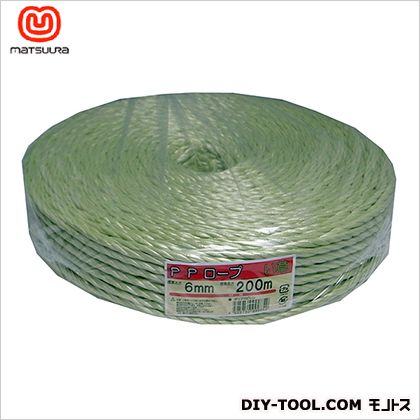 PPソフトロープ い草色 約6mm×200m  1 巻