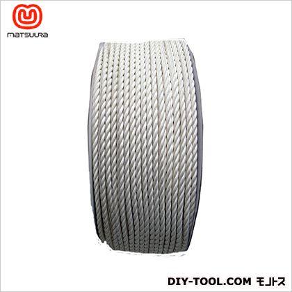 【送料無料】まつうら工業 綿ロープドラム巻 4mm×200m 1巻