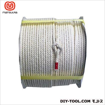 【送料無料】まつうら工業 綿ロープドラム巻 6mm×200m 1巻