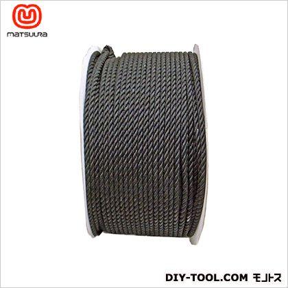 【送料無料】まつうら工業 綿ロープドラム巻 黒 5mm×200m 1巻