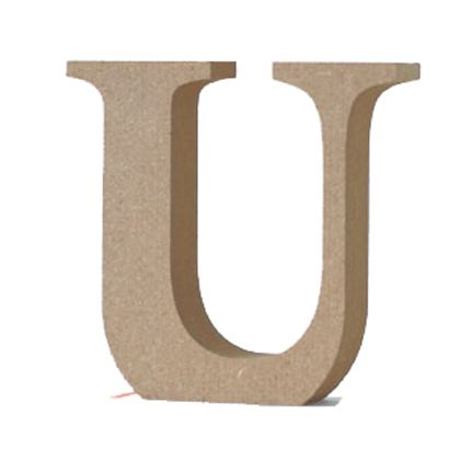 アルファベットレター大文字U  約90×90×20mm EE1-5070
