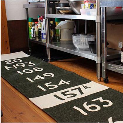 バスステーションキッチンマット カーキ 50×180cm 001176
