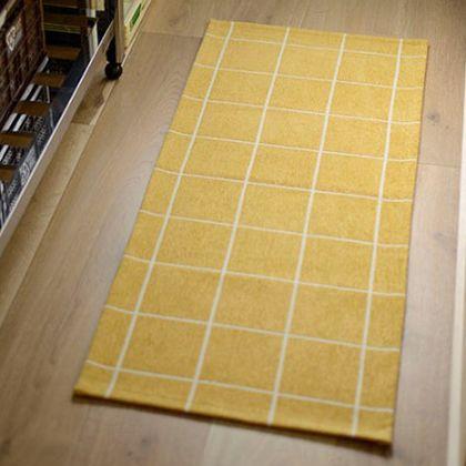 メルクロス タイルキッチンマット ブルーグリーン  50×120cm 001146