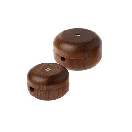 木製コードリールビッグ ブラウン 直径9H6cm 002759