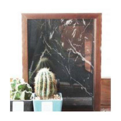 メルクロス ジェネラルマーブルウッドフレーム ブラック 34×34(cm) 002906