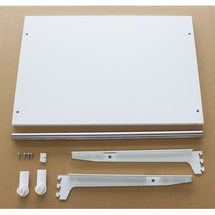 ESラック 棚板+パイプセット 白・ステン 棚・パイプ幅450mm奥行き400mm SA-ESTP4540