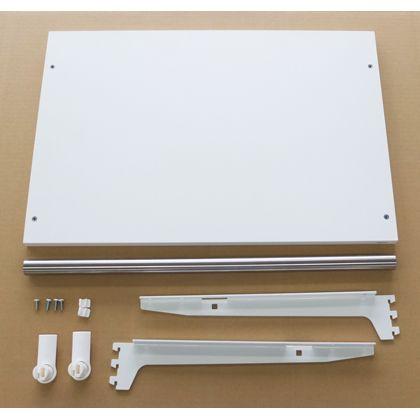 ESラック 棚板+パイプセット 白・ステン 棚・パイプ幅600mm奥行き400mm SA-ESTP6040
