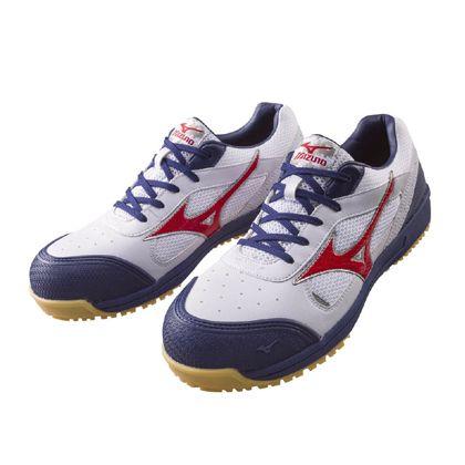 ミズノ・オールマイティー 作業用靴 ALMIGHTY ホワイト×ネイビー 26.0cm C1GA160001260