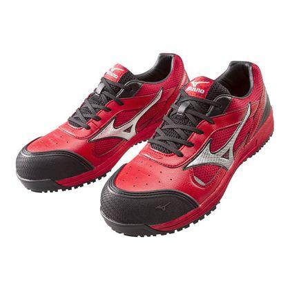 ミズノ・オールマイティー 作業用靴 ALMIGHTY レッド×シルバー×ブラック 26.5cm C1GA160062265