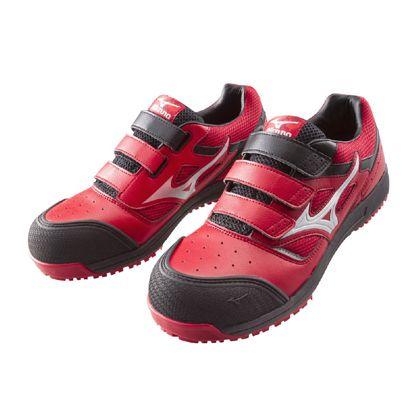 ミズノ・オールマイティー 作業用靴 ALMIGHTY レッド×シルバー×ブラック 27.0cm C1GA160162270