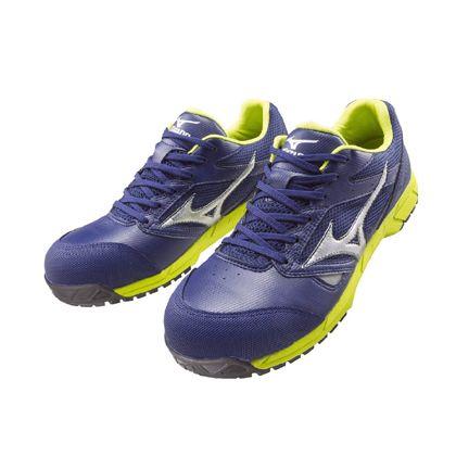 ミズノ・オールマイティー 作業用靴 ALMIGHTY LS ネイビー×シルバー×グリーン 26.5cm C1GA170014265