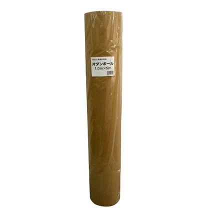 宮島化学 片面ダンボール クラフト 幅1000mm×長さ5m PO16