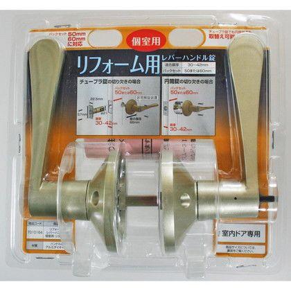 リフォーム用レバーハンドル錠 個室用(間仕切錠) シルバー  7010164