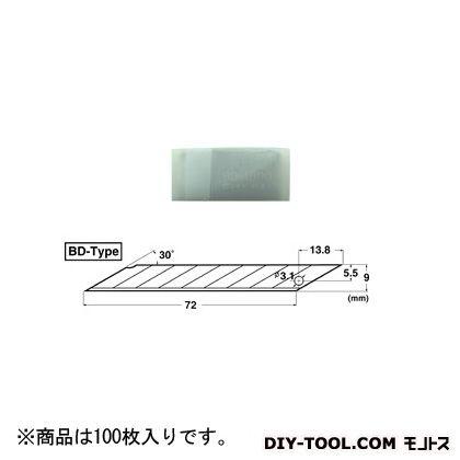 デザインナイフ替刃 BD型   BD-2000 100 枚入