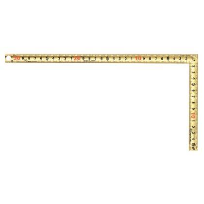 黄金曲尺 鳶 快段 両目盛 金色 全長160mm×全幅320mm×厚さ1.3mm GCT-30CKD