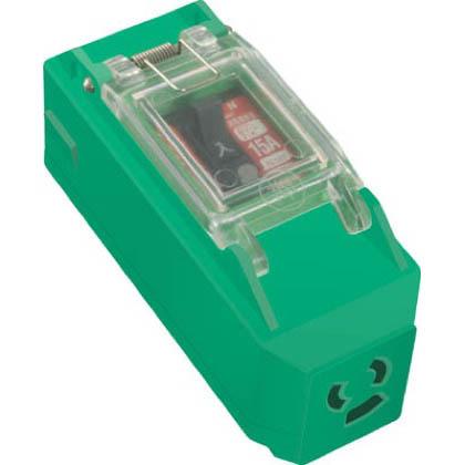 プラコンインポッキンブレーカ抜止コンセント付過負荷漏電遮断器付   PIPB-EK-N
