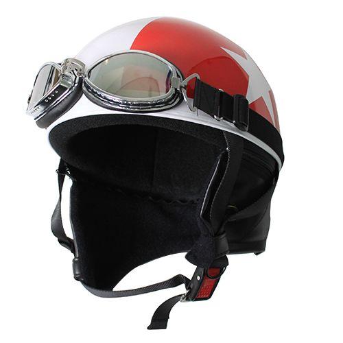 【送料無料】日本モーターパーツ ビンテージヘルメット レッド/スター フリー 10675120