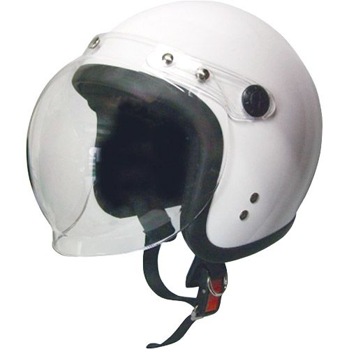 【送料無料】日本モーターパーツ スモールジェットヘルメット 回転式シールド付 ホワイト フリー 79122004