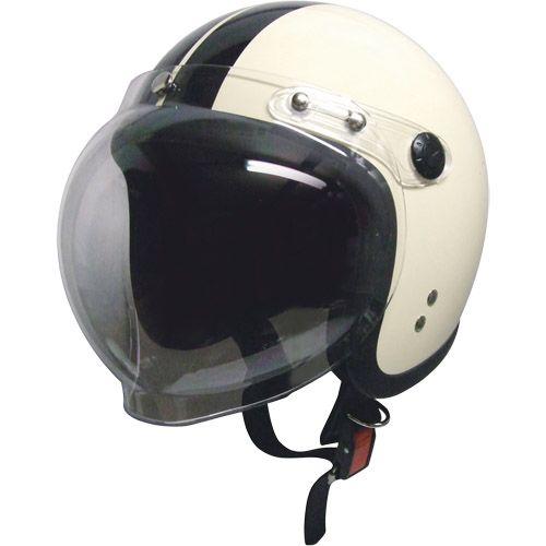 スモールジェットヘルメット 回転BBシールド付 アイボリー/ブラック フリー 79122021