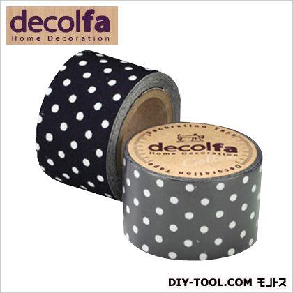 デコレーションテープ ドット(紺×ホワイト) 30mm×2m M3308