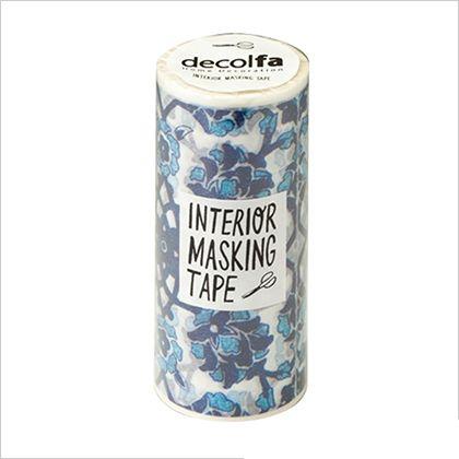インテリアマスキングテープ タイル/ブルー 100mm×8m M3700