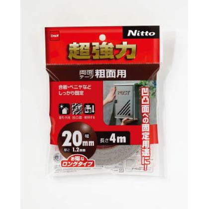 超強力両面テープ粗面用20×4  20mm×4m T4593