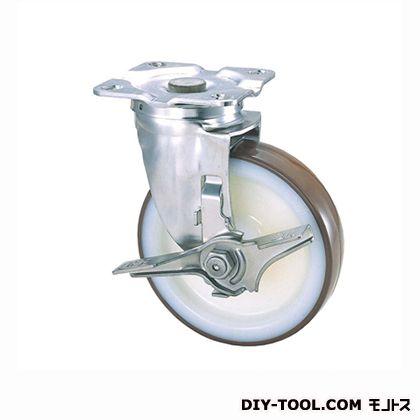 【送料無料】ナンシン 定番SUS中軽量キャスターウレタン車輪 高さ:165mm SU-STC-125 GNU S-2