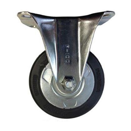 定番中軽量キャスターゴム車輪  高さ:130mm SKC100VSH(F100-100×32)