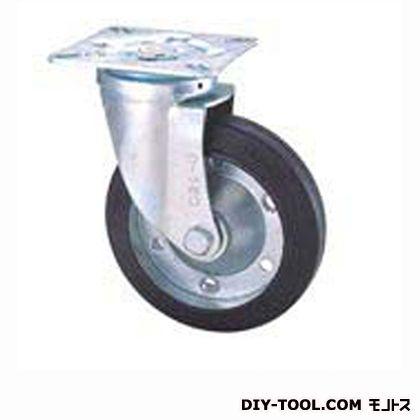 定番中軽量キャスターゴム車輪  高さ:165mm STC125CBC(C125-125×38)