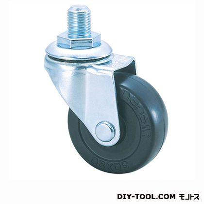 軽量ねじ込みキャスターゴム車輪   SR50RM M12(- 50×20)