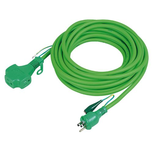 日動 トリプルポッキン延長コード緑アース付20m緑 GN PPT20E