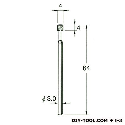 電着DIA砥石  先端径:4粒度:#170 D6104